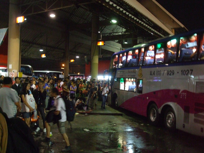 Bus Terminal (Mochit) in Bangkok, bus to Sisaket