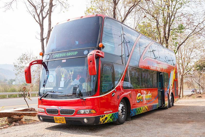 Tour bus in Thailand
