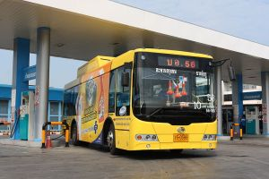 Sunlong SLK6985 CNG bus in Bangkok