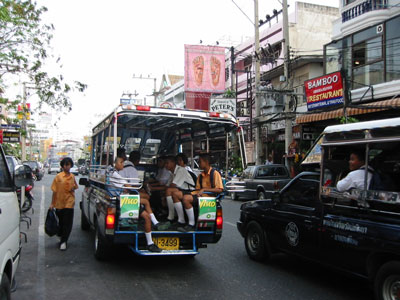 Baht bus in Pattaya