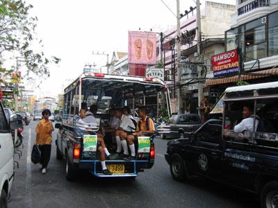 Baht bus in Pattaya