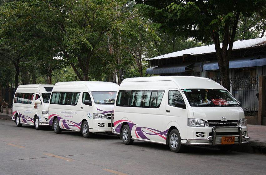 Toyota Commuter vans in Bangkok