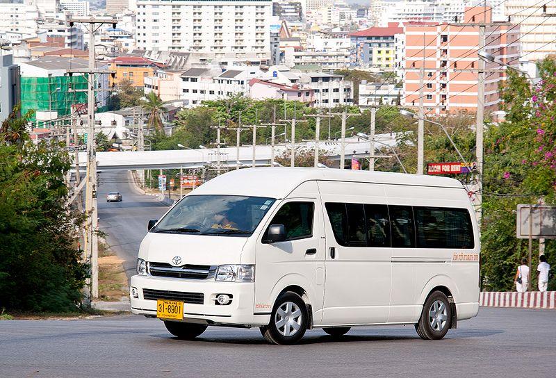 Toyota Hiace minivan in Pattaya