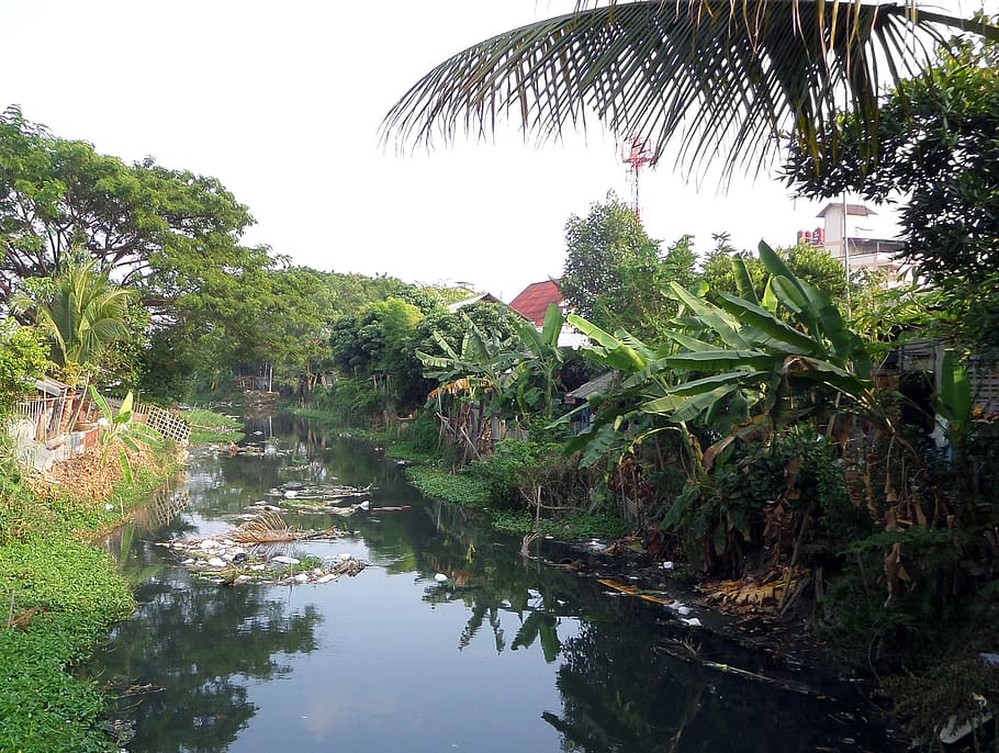 A canal or Khlong in rural Thailand