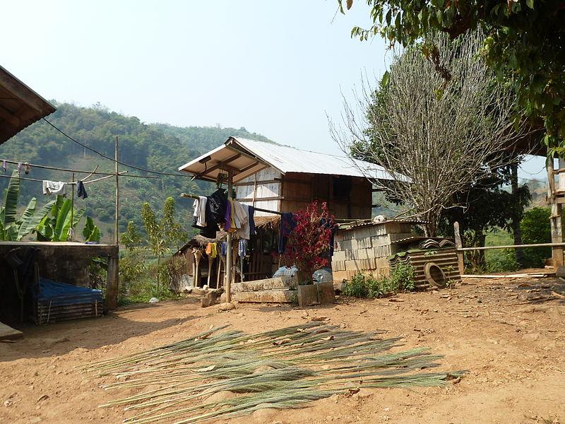 Akha Hill Tribe village. Chiang Rai