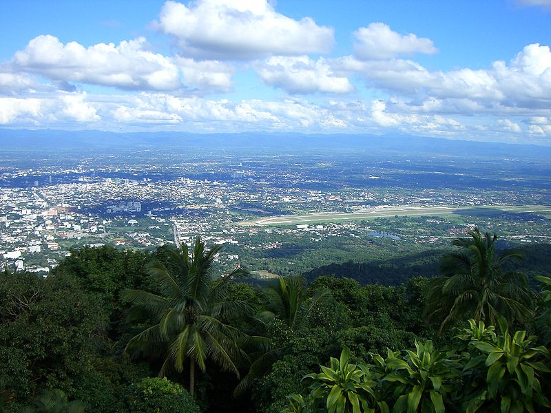 Chiang Mai city viewed from Doi Suthep