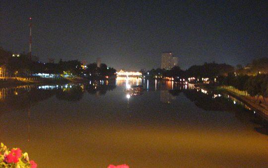 Night view of Ping river, Chiang Mai