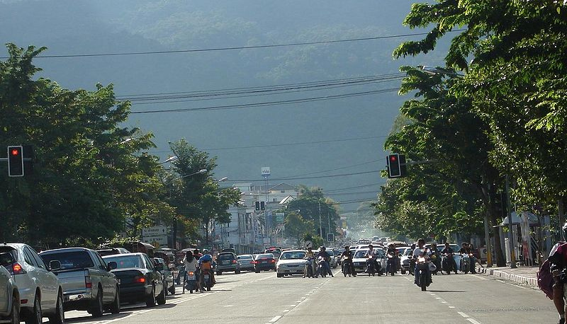 Traffic in Chiang Mai