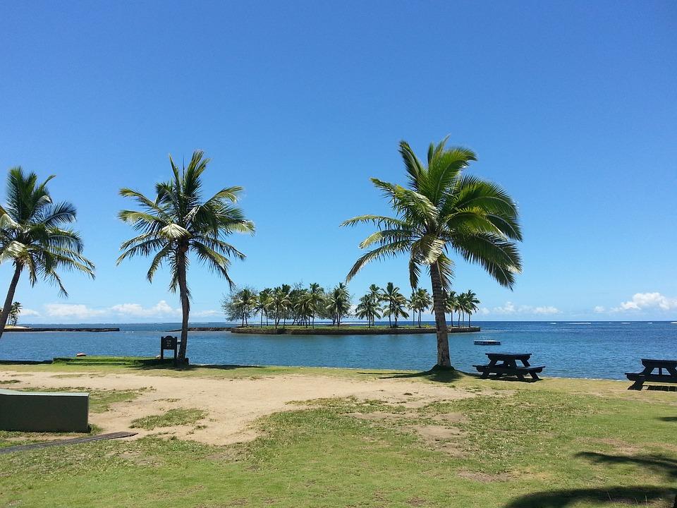 Beach in Fiji islands, South Pacific