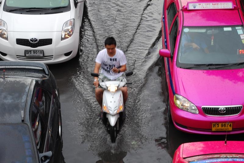 Bangkok hit by freak rains