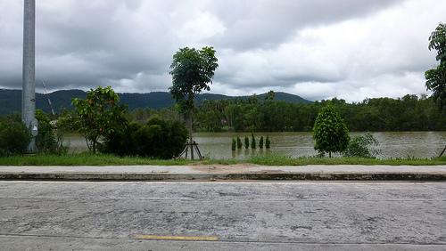 Flooded road in Koh Samui