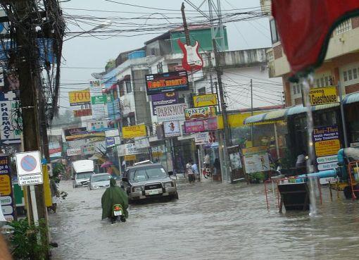 Floods in Koh Samui, Thailand