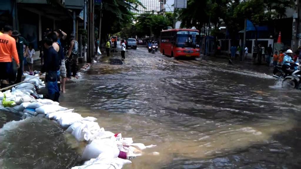 Flooded street in Bangkok