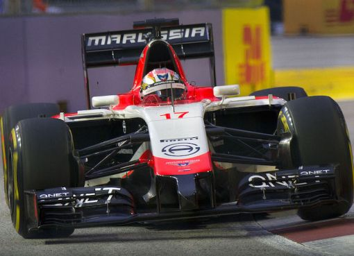 Jules Bianchi with the Marussia MR03