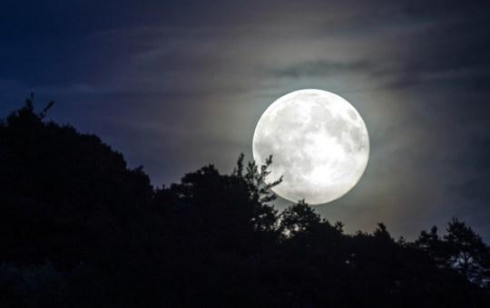 Full moon (Super Moon) in Thailand