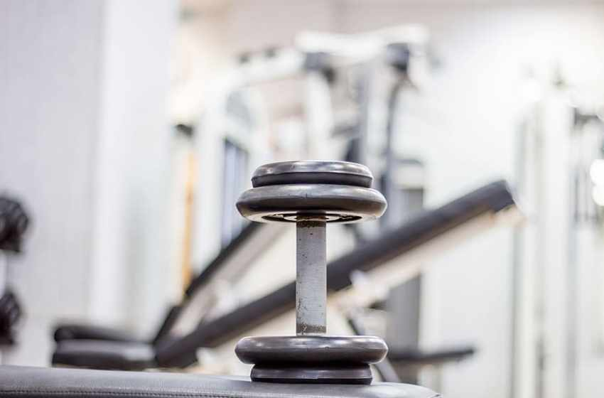 Dumbbell weight at gym