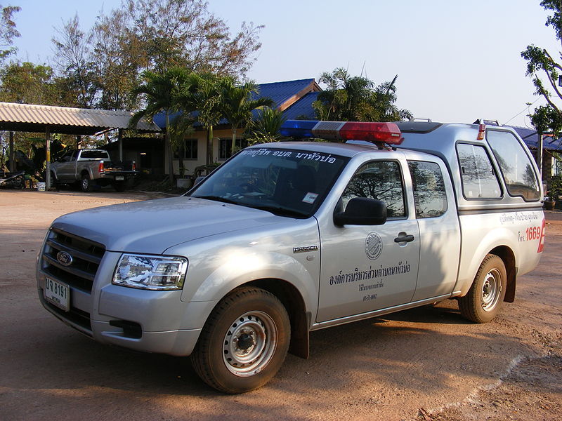 Public Emergency Medical Services rescue vehicle in Thailand