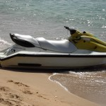 Jet ski on the beach