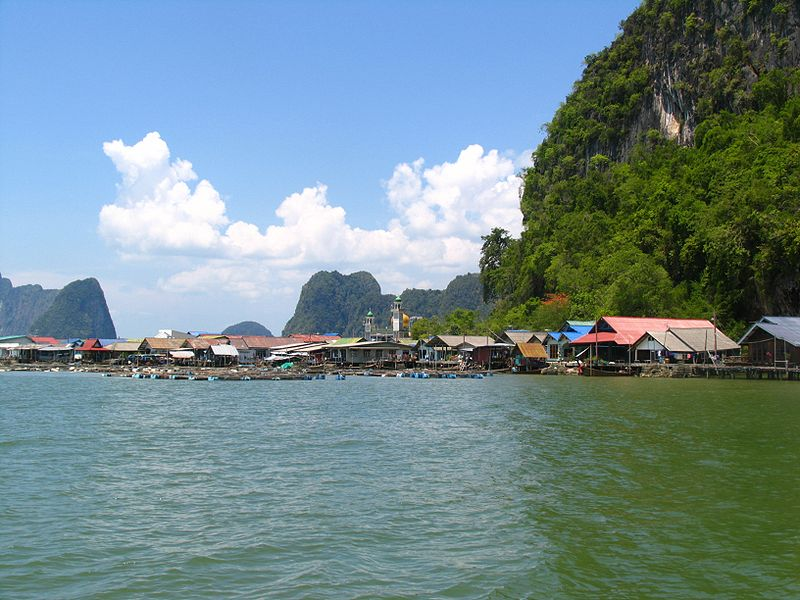 Koh Panyi in Thailand, inhabited by Muslim sea gypsies