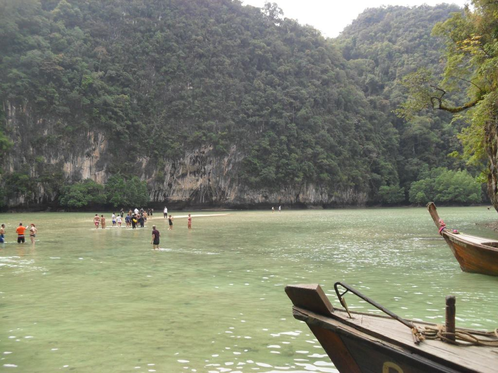 Longtail boats in Phi Phi
