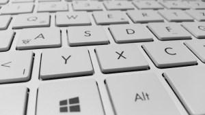 Windows laptop keyboard