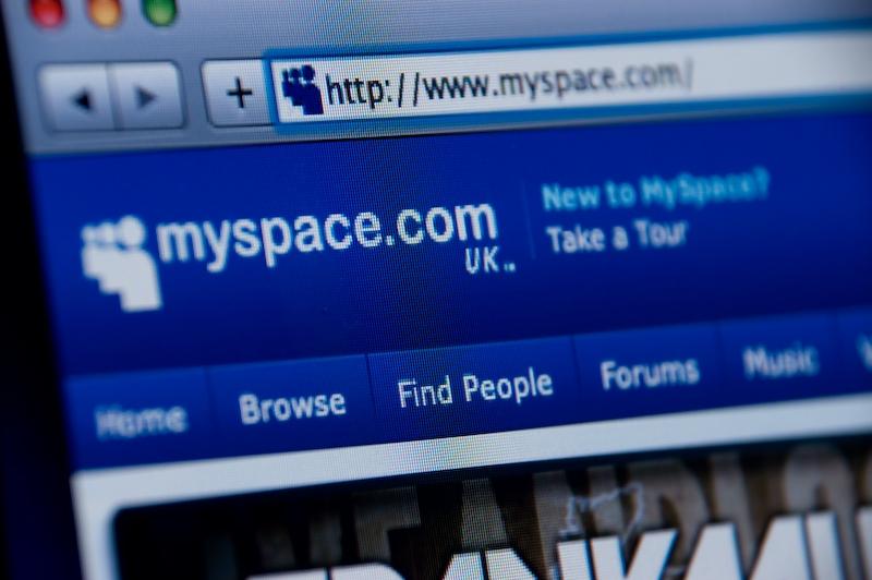 Myspace website screenshot