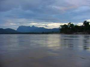 The Mekong River before the sunset