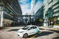 nuTonomy self-driving car in the city