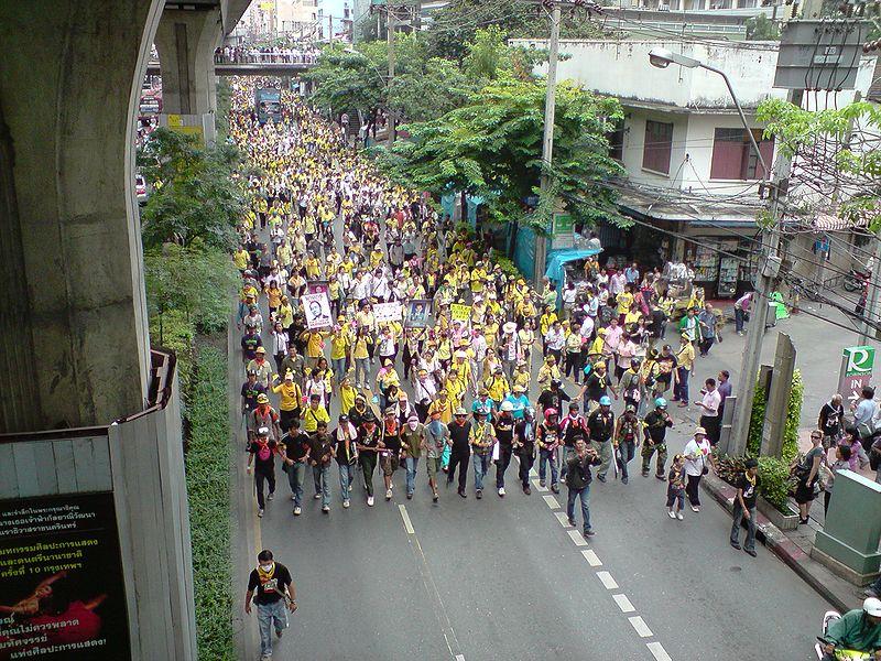 PAD 'Yellow Shirts' protest in Bangkok