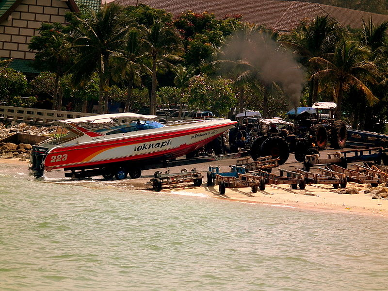 Towed speedboat in Pattaya