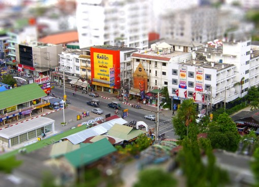 Pattaya viewed from Mike Shopping Mall to the second road