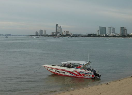 Speedboat at Pattaya Beach