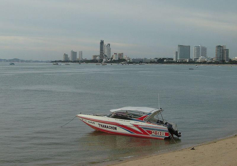 Speedboat at Pattaya Beach