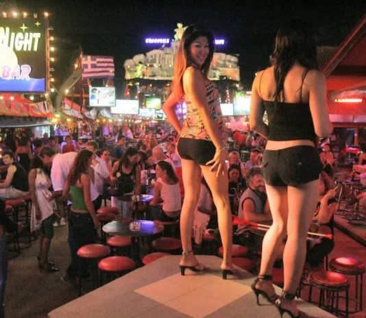 Go go girls dancing in Pattaya
