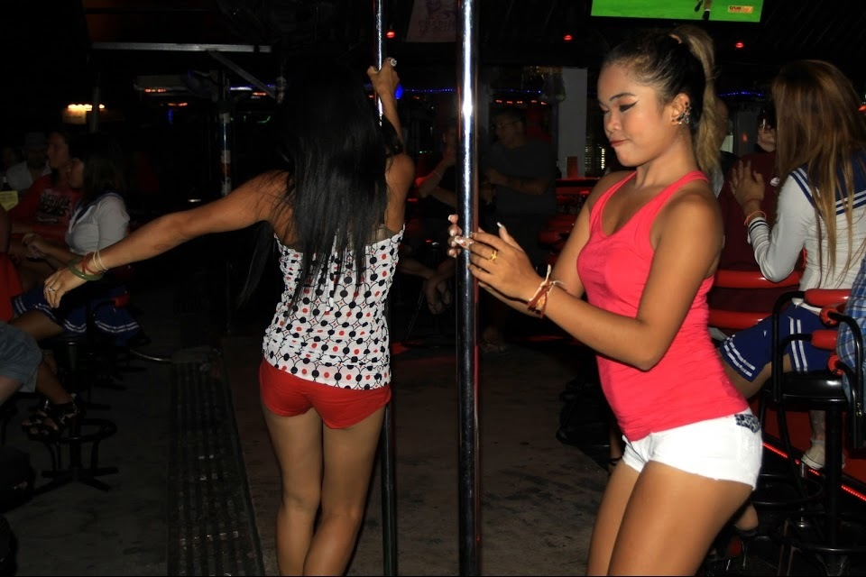 Girls dancing in a Beer Bar in Thailand