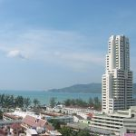 Buildings in Patong Beach, Phuket, Thailand.