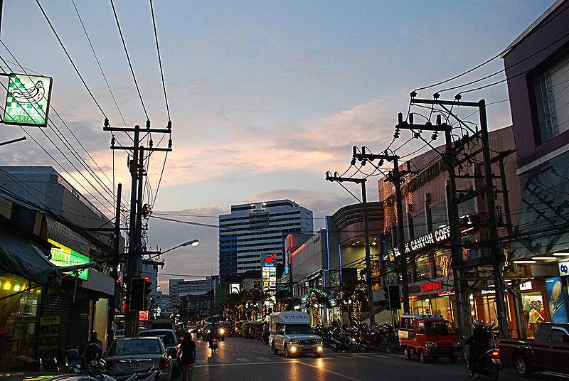 Phuket Town at dusk