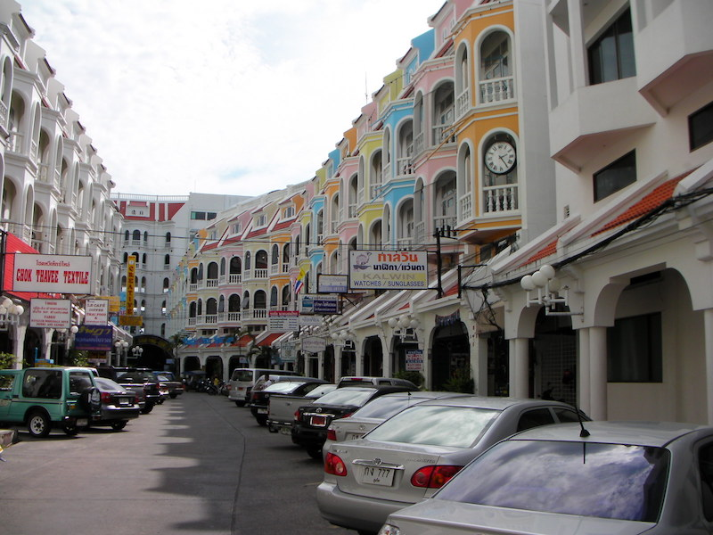 Street and condominiums in Phuket Town