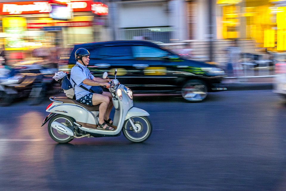 Man riding a motorcycle in Phuket
