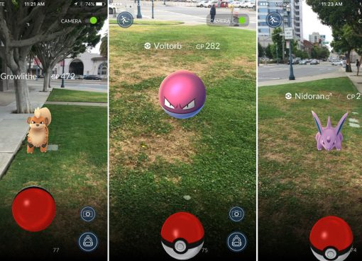 Pokemon Go game in action