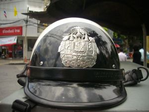Helmet for traffic police in Thailand
