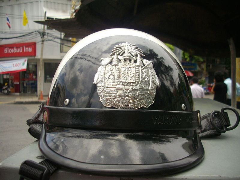 Helmet for traffic police in Thailand