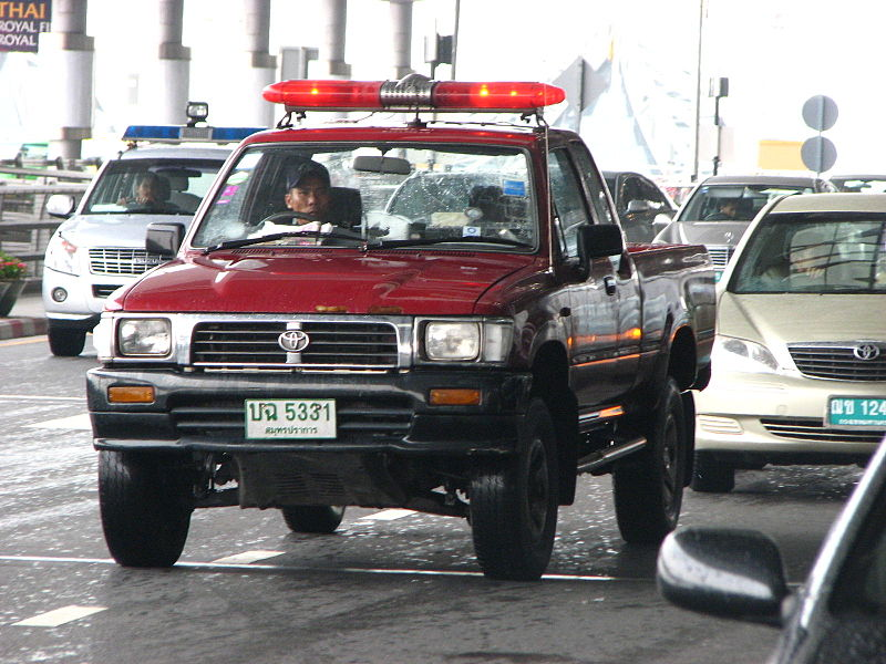 Toyota Hilux Thai Police at Suvarnabhumi Airport in Bangkok
