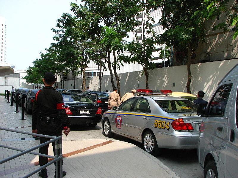 Thailand Police Highway Patrol car