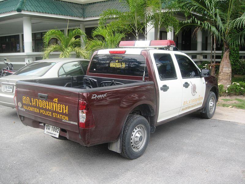 Police car in Jomtien, Pattaya