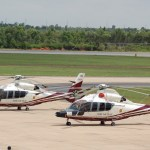 Eurocopter EC.155s of the Royal Thai Police at Khon Kaen airport