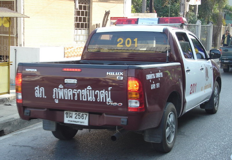 Police car in Chiang Mai, Thailand