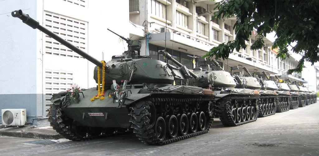 M41 Walker Bulldog tanks in Bangkok
