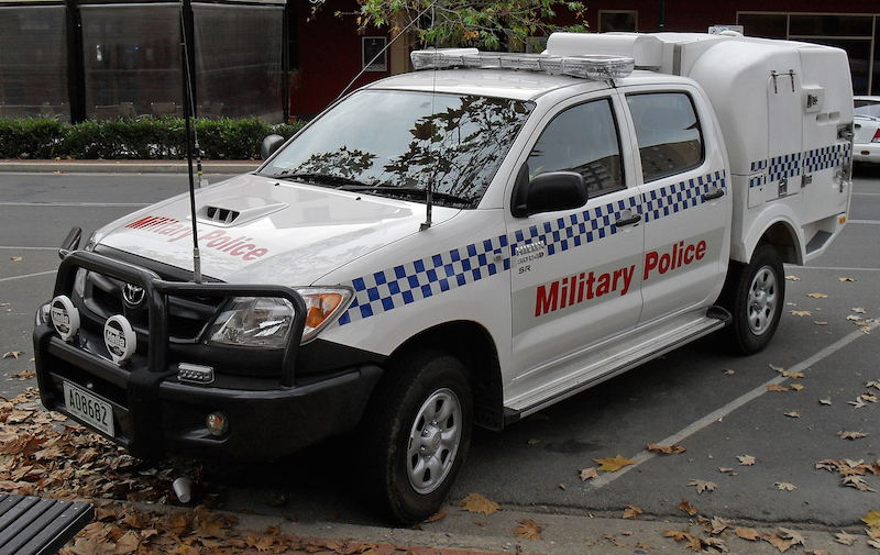 Military Police Toyota Hilux vehicle