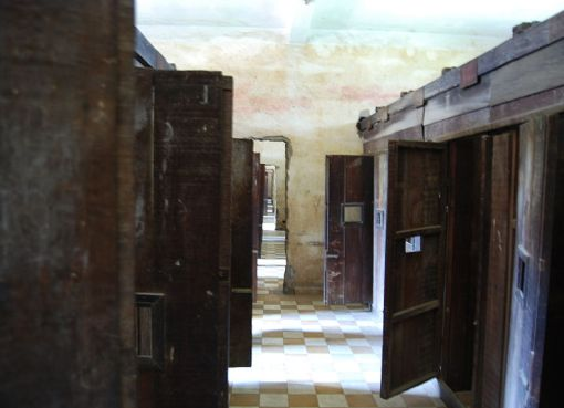 Cell doors, Security Prison 21 (S-21), Tuol Sleng Genocide Museum, Phnom Penh, Cambodia